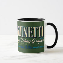 KRW Vintage Sanguinetti Grapes Crate Label Mug