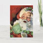 KRW Vintage Santa Claus Christmas Card card