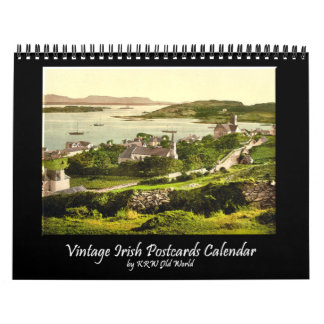 KRW Vintage Scenic Irish Postcard Calendar 2012