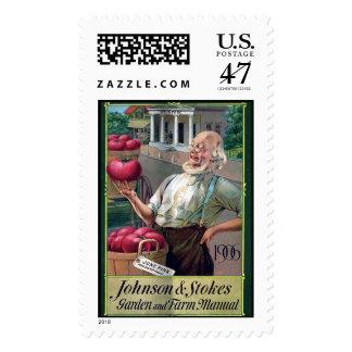 KRW Vintage Seed Catalog Postage Stamp