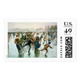 KRW Vintage Skaters 1885 Holiday Postage