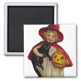 KRW Vintage Trick or Treater Halloween Magnet