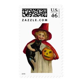 KRW Vintage Trick or Treater Halloween Stamp
