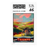 KRW Vintage Triumph Bicycle Poster Stamp