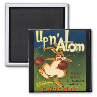 KRW Vintage Up N Atom Carrots Crate Label Magnet