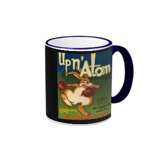KRW Vintage Up N Atom Carrots Crate Label Mug