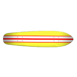 KRW Vintage Yellow Surf Style Skateboard