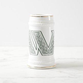 KRW - W - Celtic Monogrammed Stein 18 Oz Beer Stein