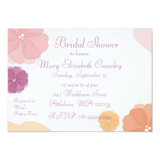KRW Watercolor Floral Series Bridal Shower Invite