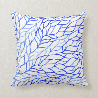 KRW Watercolor Leaves Decor Pillow