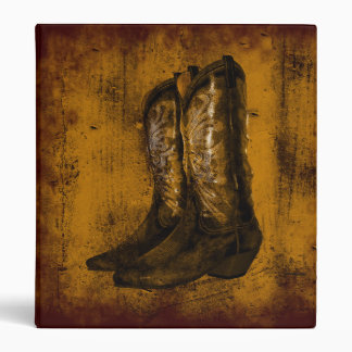 KRW Western Wear Cowboy Boots Binder