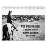 KRW Wild West Photograph Calendar