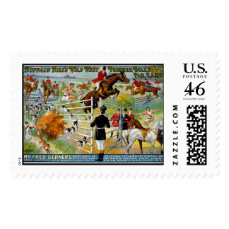 KRW Wild West Show Vintage Stamp