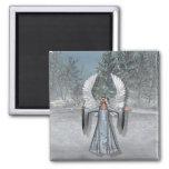 KRW Winter Angel Refrigerator Magnet