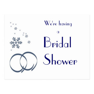 KRW Winter Wedding Custom Shower Invitation Postcard