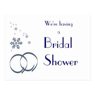 KRW Winter Wedding Custom Shower Invitation Post Cards