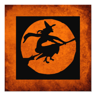 KRW Witch Silhouette Halloween Party Invitation