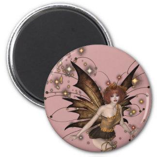 KRW Woodland Faery 2 Inch Round Magnet