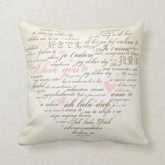 KRW Words of Love Heart Decor Pillow