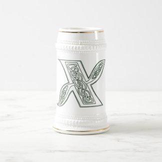KRW - X - Celtic Monogrammed Stein 18 Oz Beer Stein