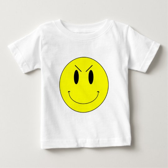 KRW Yellow Evil Smiley Face Baby T-Shirt