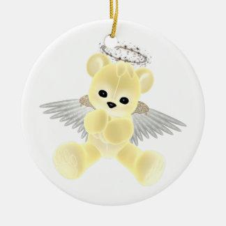 KRW Yellow Guardian Angel Bear Ornament