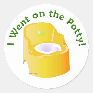 KRW Yellow I Went on the Potty Training Reward Classic Round Sticker