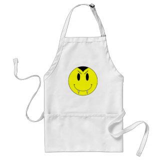 KRW Yellow Smiley Face Vampire Apron