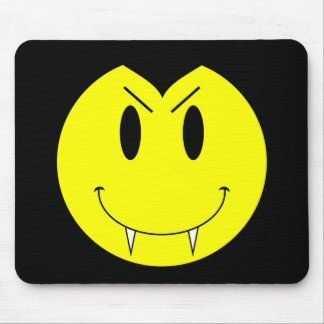 KRW Yellow Smiley Face Vampire Mouse Pad