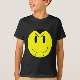 KRW Yellow Smiley Face Vampire T-Shirt