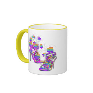 KRW You can never have too many shoes Ringer Mug