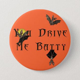 KRW You Drive Me Batty Halloween Pinback Button