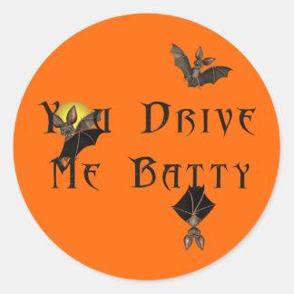 KRW You Drive Me Batty Halloween Sticker