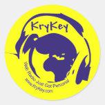 KryKey 3.5 Inch Round Sticker