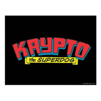 Krypto el superdog tarjetas postales