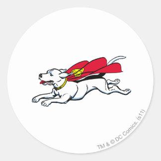 Krypto the dog classic round sticker