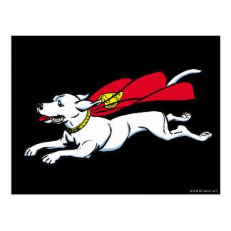Krypto the dog postcard