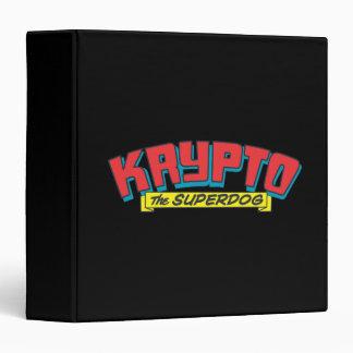 Krypto the superdog vinyl binder