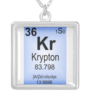 Krypton Element necklace Periodic Table of the