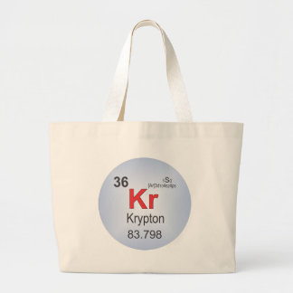 Krypton Individual Element of the Periodic Table Canvas Bags