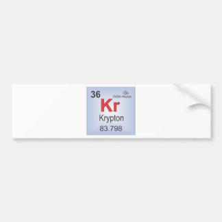 Krypton Individual Element of the Periodic Table Bumper Sticker