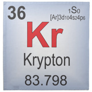 Krypton Individual Element of the Periodic Table Cloth Napkin
