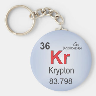 Krypton Individual Element of the Periodic Table Keychain