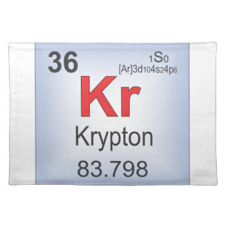 Krypton Individual Element of the Periodic Table Placemat