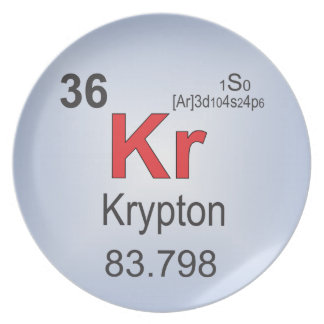 Krypton Individual Element of the Periodic Table Plate