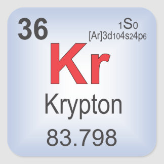 Krypton Individual Element of the Periodic Table Square Sticker