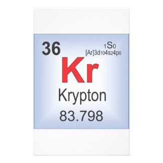 Krypton Individual Element of the Periodic Table Stationery