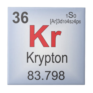 Krypton Individual Element of the Periodic Table Tile
