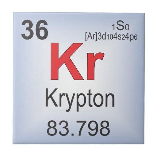 Krypton Individual Element Of The Periodic Table Tiles Zazzle