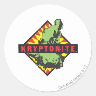 Kryptonite Pegatina Redonda